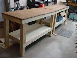 garage workbench designs shop corner shape photos the