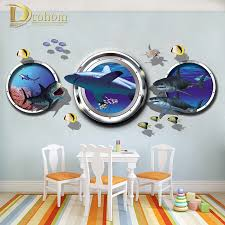 popular shark vinyl plane buy cheap shark vinyl plane lots from finding nemo portholes shark wall stickers for kids rooms bedroom living room decorative vinyl 3d anime
