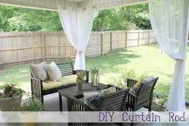 screened porch makeover diy curtain rod chippasunshine