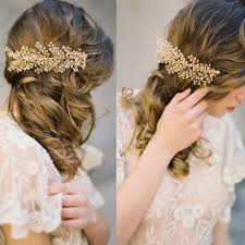 wedding hair combs tuanming gold bridal hair combs