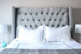 White Cushioned Headboard by Teal Tufted Headboard Ideas Including Best About Headboards Diy