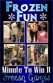 Christmas Party Minute To Win It Games Hollyshome Family Life Frozen Fun Minute To Win It Games