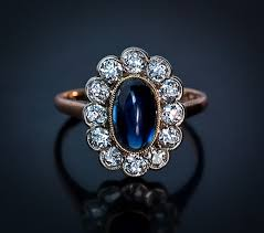 sapphire rings vintage images And wedding rings vintage sapphire diamond engagement ring 96665 jpg