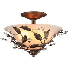 Hampton Bay Outdoor Light Fixtures by Hampton Bay Edendale 2 Light Oil Rubbed Bronze Semi Flush Mount