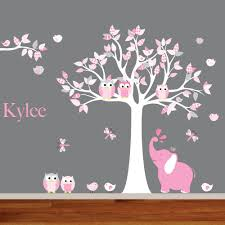cute wall decals for nursery inspiration home designs image of pink owl wall decals for nursery