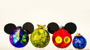 disney diy create mickey inspired marbled glass ornaments