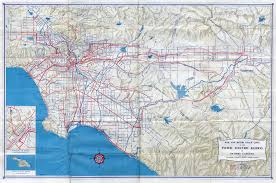 Southern Ca Map 1947 Pacific Electric System Map Pacific Electric Railway