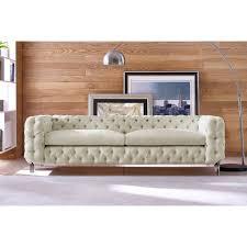Tufting Sofa by Tov Furniture Tov S78 Celine Tufted Beige Linen Sofa On Acrylic Legs