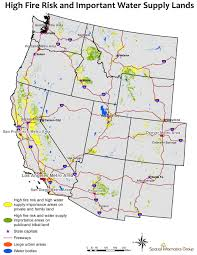 Wildfire Map America by Western Water Threatened By Wildfire