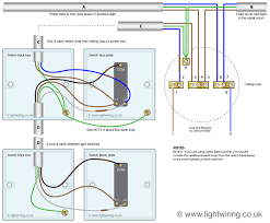 wiring a three gang two way switch at wire 2 lights to 1 diagram