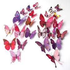 Butterfly 3d Wall Art by 3d Butterfly Stickers Wall Stickers For Home Room Decoration 24