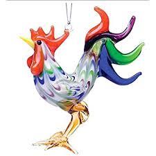 world hen on nest glass blown ornament