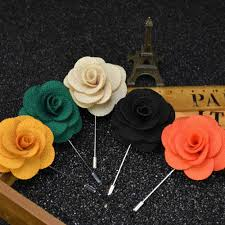 best men u0027s lapel pins brooches for wedding suits fabric flower