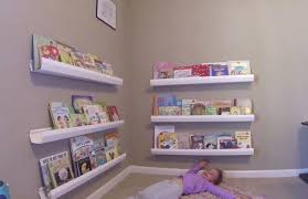 Vinyl Rain Gutter Bookshelves - diy shelf ideas diy kids bookshelf from rain gutters