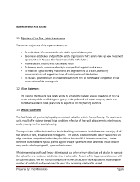 real estate business plan template the ultimate real estate