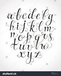 calligraphy font vector handwritten classic cursive stock vector