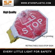 stop sign with led lights led light flashing lights disco pare bus stop sign for