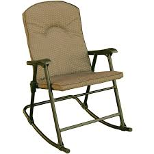 Rocking Folding Chair Prime Products Cambria Padded Rocker Desert Taupe 13 6805
