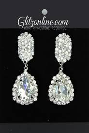 rhinestone earrings 7479 rhinestone earrings glitz and