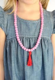 tassel necklace bead images Alice and loisdiy valentine wooden bead tassel necklace jpg