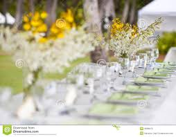 wedding decor table setting and royalty free stock