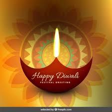 floral diwali greeting vector free