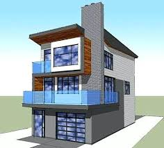 narrow waterfront house plans contemporary beach house plans tremendous narrow lot elevated beach