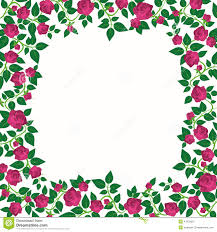 decorative border with roses stock vector image 41978612