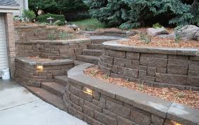 Garden Walls Ideas by Front Yard Landscaping Ideas With Retaining Walls Garden Post Cool