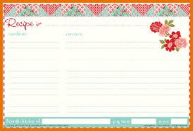 8 free recipe card template itinerary template sample