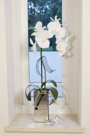 Mirrored Cube Vases Artificial Flower Arrangements