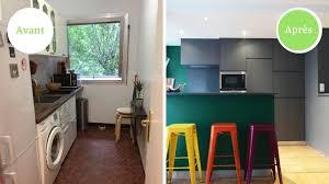 mod鑞e de cuisine am駻icaine avant après une cuisine ouverte et colorée en mode tetris