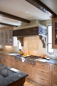 range hood ideas kitchen rustic with exposed beams tile kitchen