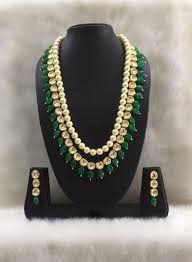 shell pearls necklace images Shell pearls along with kundan and gesmstone beads set deara jpg