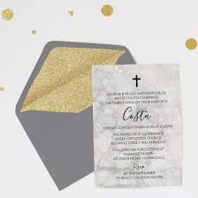 Personalised Christening Invitation Cards Marble Baptism Or Christening Invitation Personalised Printed Or
