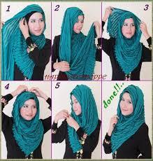 Tutorial Hijab Pashmina Kaos Yang Simple   new tutorial jilbab pashmina kaos simple