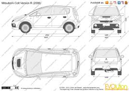 mitsubishi colt turbo version r the blueprints com vector drawing mitsubishi colt version r