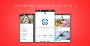 best mobile app templates for your company profile premium