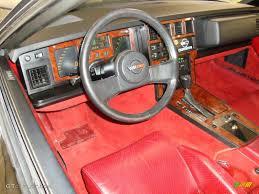 1989 Corvette Interior Carmine Red Interior 1985 Chevrolet Corvette Coupe Photo 43625476