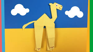 paper camel craft from one piece of paper easy creative activity