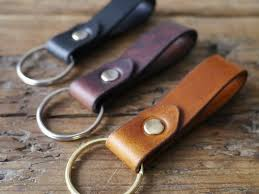 classic key rings images Leather keyring classic black kingsley leather jpg