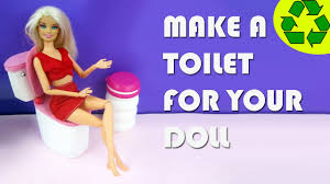 How To Make Dollhouse Furniture From Recycled Materials Make A Doll Toilet Doll Crafts Simplekidscrafts Youtube