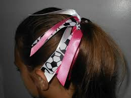 ribbon ponytail custom team colors ribbon ponytail holder choose your favorite