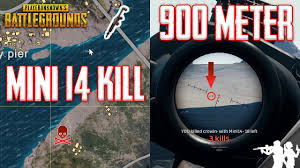 pubg 4x zeroing 900 meter mini14 4x scope kill in playerunknown s battlegrounds