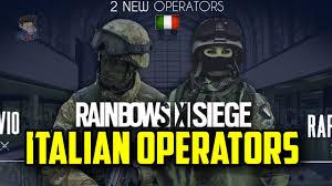 rainbow six siege italian operators savio u0026 rapida fan made