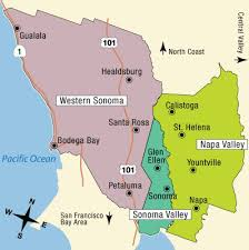 san francisco map california wine country tourism map