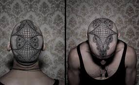 head tattoo by chaim machlev design of tattoosdesign of tattoos