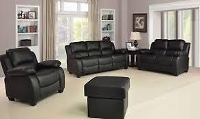 Luxury Leather Sofa New Valerie Luxury Leather Sofa Suite Black Brown 3 2 1