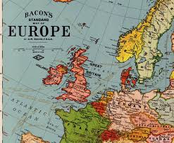 map erope bacon s standard map of europe world digital library