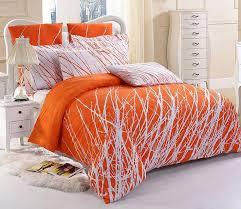 White Cotton Duvet Cover King Orange Duvet Cover King Pertaining To Motivate Rinceweb Com